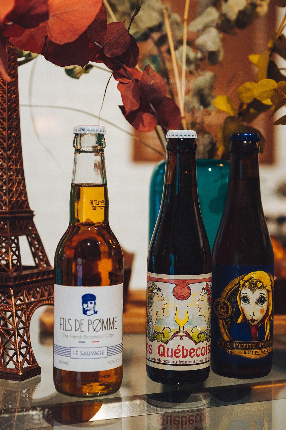 Noggrant utvalda öl och cider.