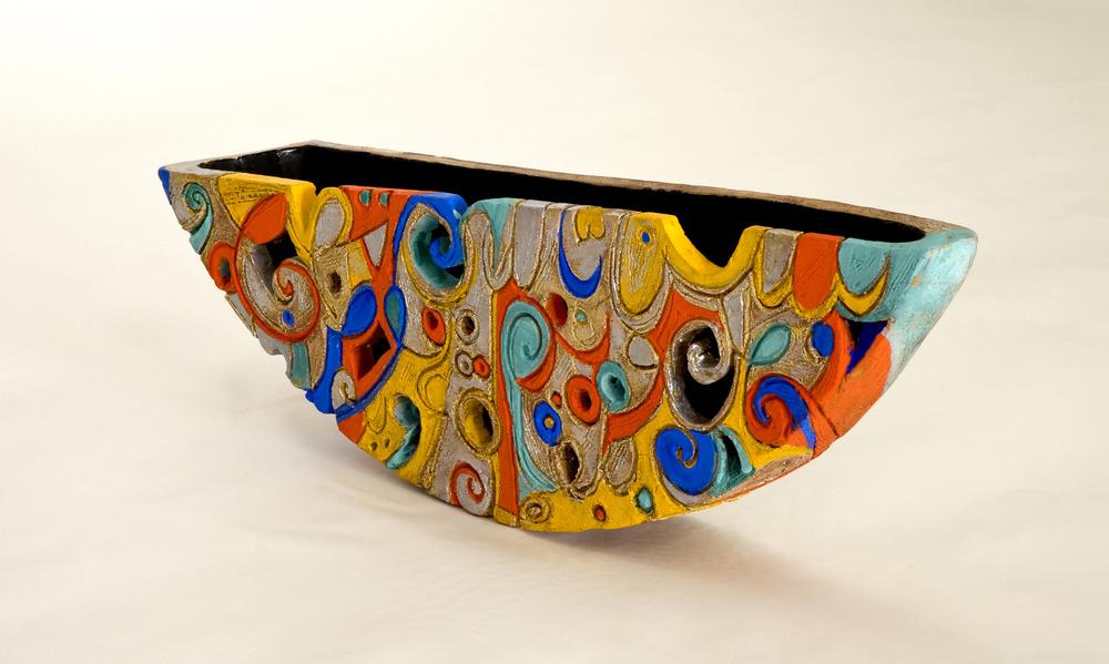 Yalli imdhai' Wattan Earthstone and velvet glaze 45cm 2009 Harba Collection Italy