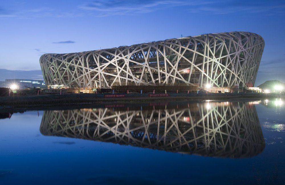 Beijing National Stadium. Photo source: www.simplywallpapers.com