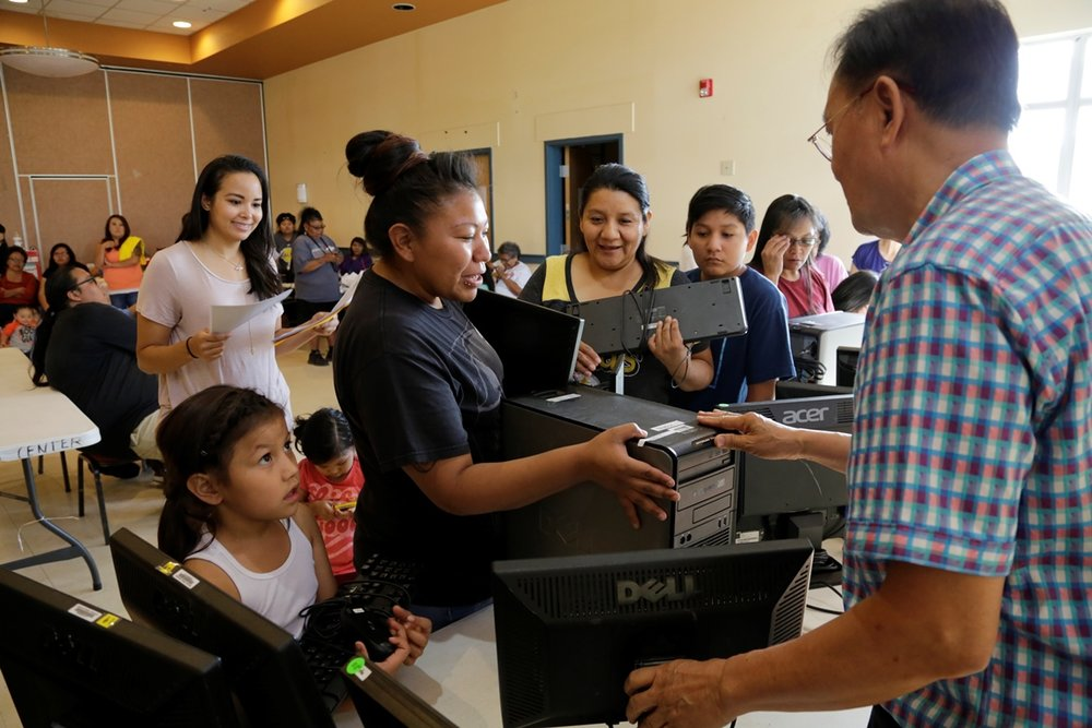 Jimmy Yip Ute Mountain Ute Families Computer Distribution.jpg