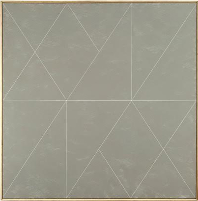 "Glacial Kame IX, 1975, acrylic on canvas, 54"" x 54"""