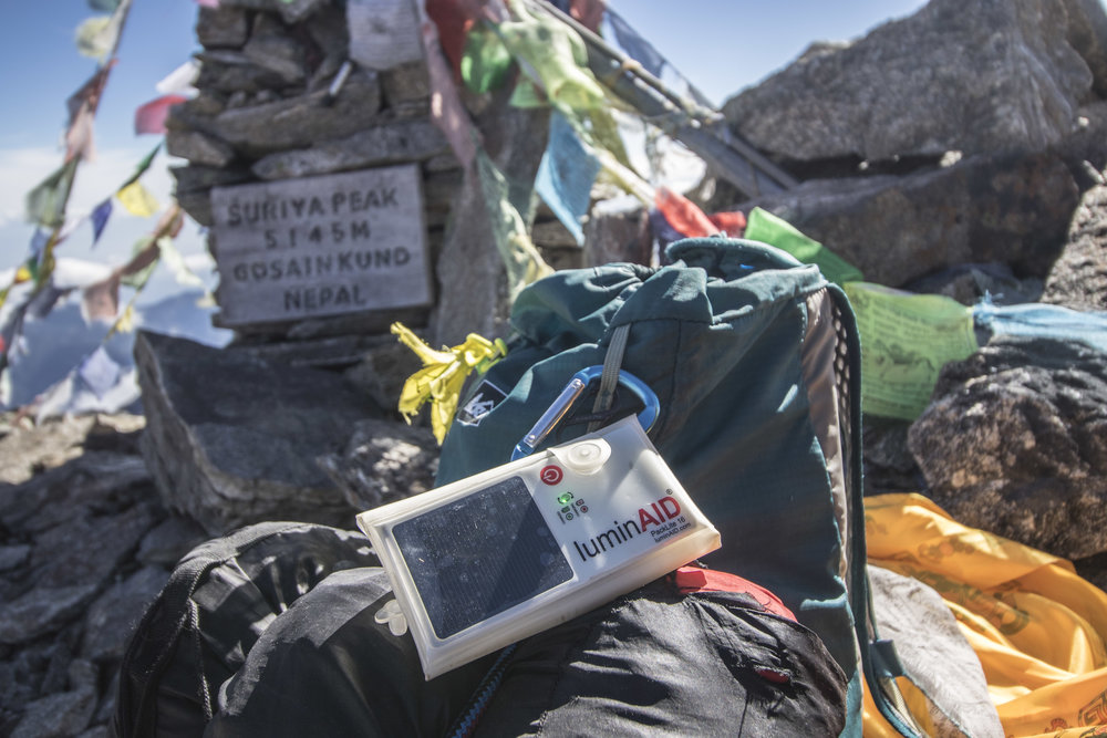 The PackLite 16 on top of Surya Peak, Langtang National Park / Nepal