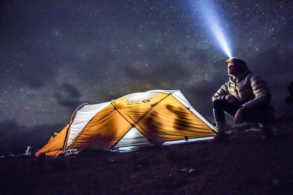 admiring the stars