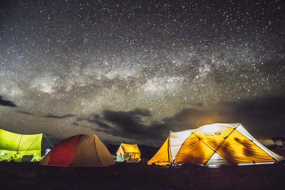 camp and the milkyway