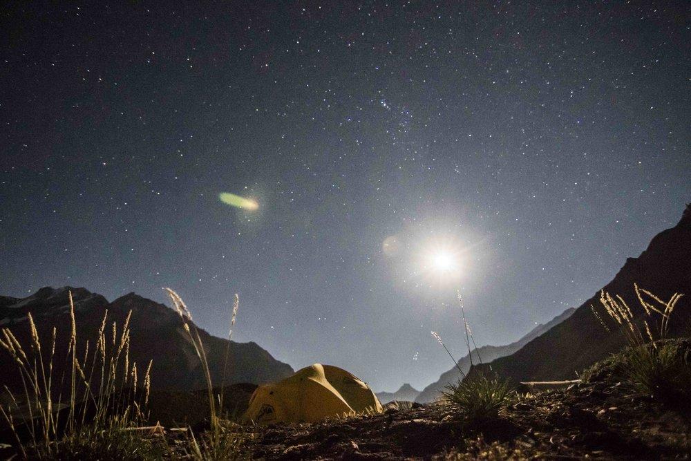 full moon camping