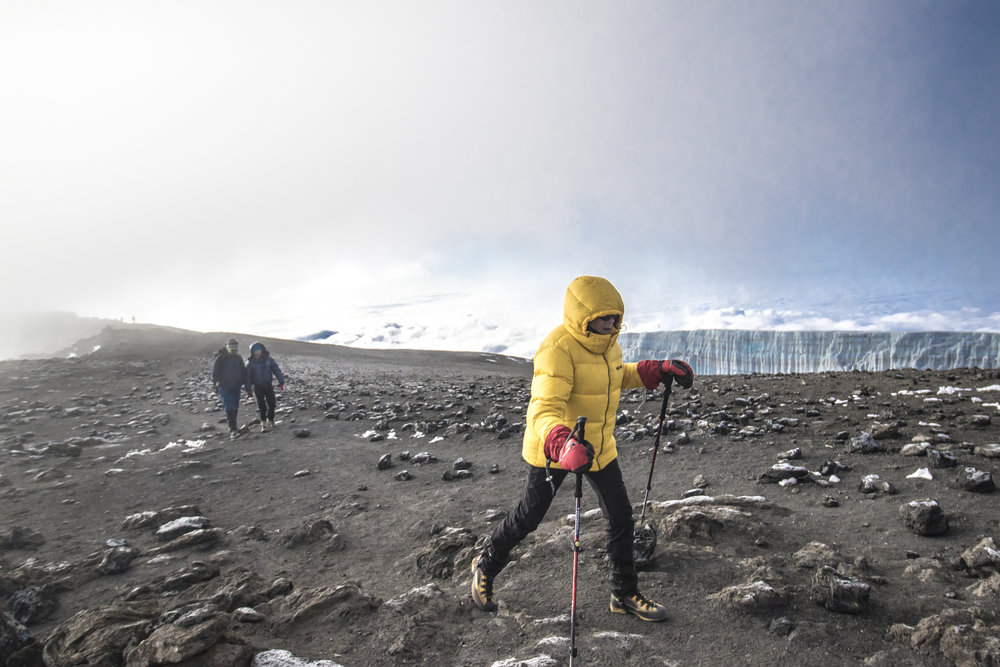 Final steps towards Kilimanjaro's summit