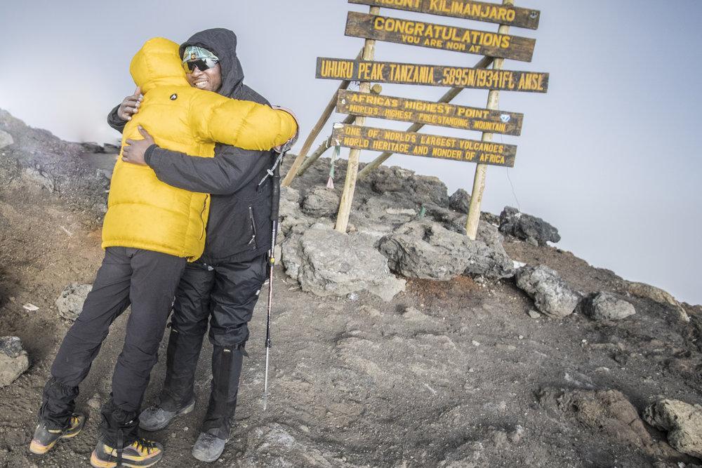 The long-awaited summit bearhug