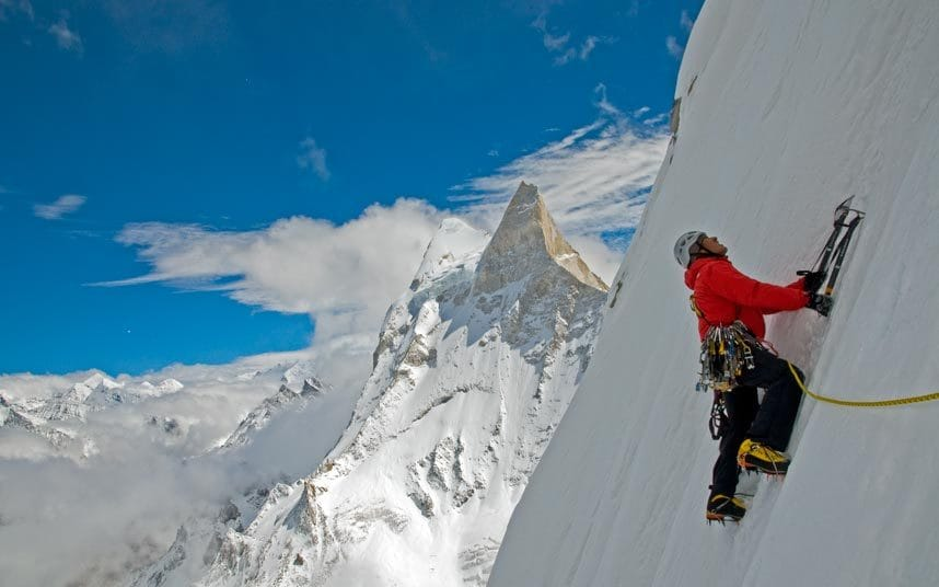 Conrad Anker on Meru.  Photo: Jimmy Chin