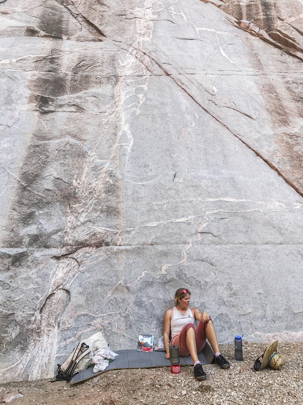 Chasing shade in Phantom Creek Canyon