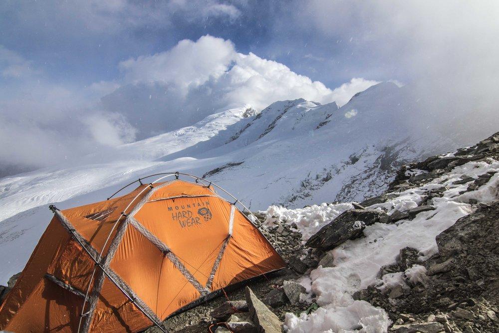 Home sweet home at 19k ft: Mera Peak High Camp.  My photo.