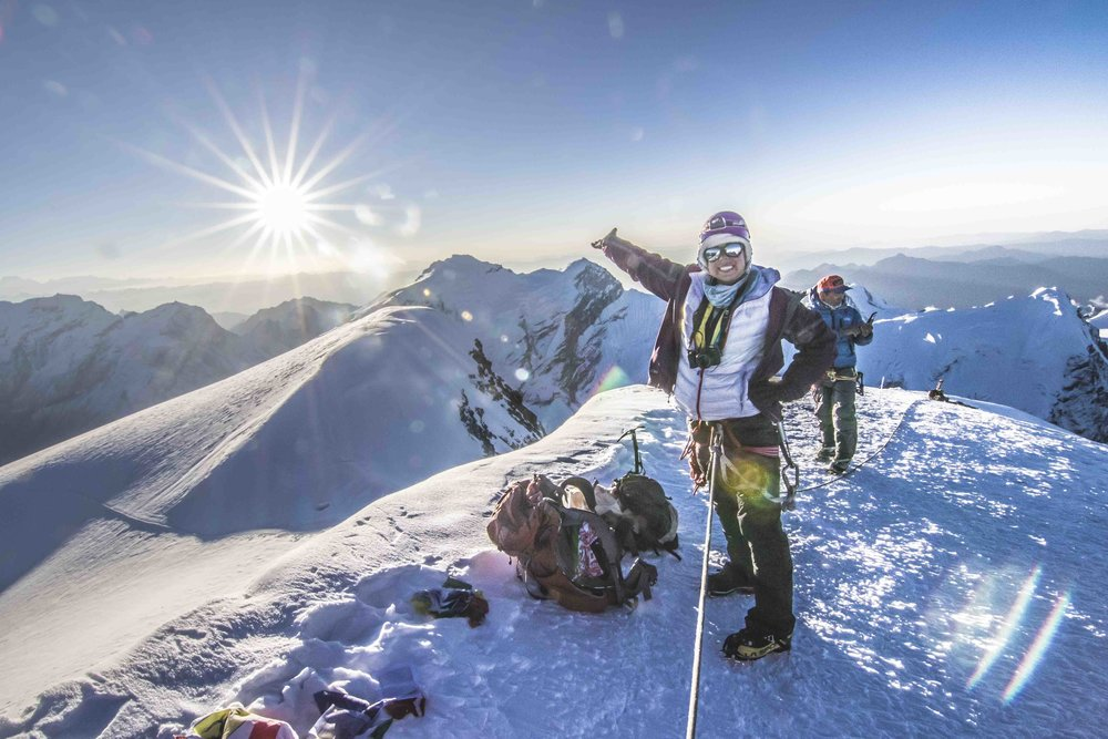 @tarebear22 at the summit of Mera Peak.  My photo.