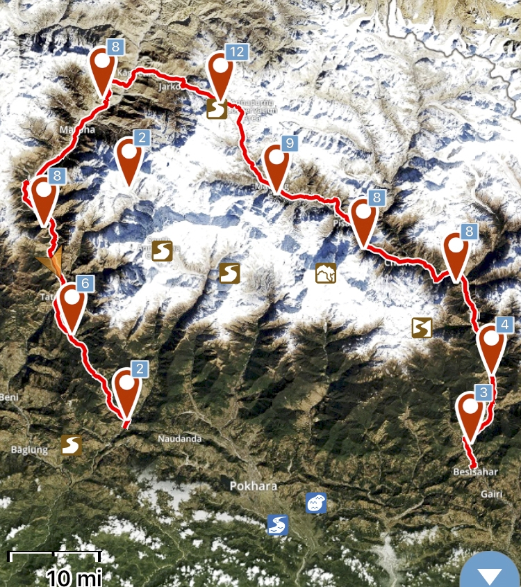 The circuit in all its g(l)ory: ~220 kilometers and more than 10,000 meters of ascent.