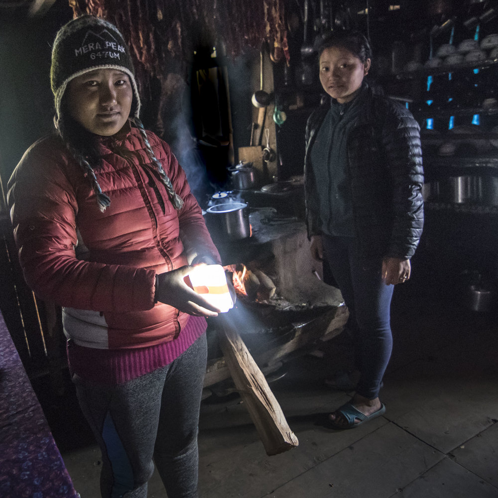 this lady lives in an off-grid hut and actively came looking for me because she heard about the lanterns