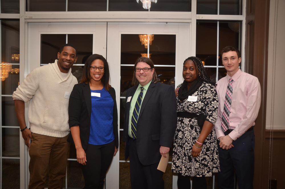 From left: Paul Collins-Hackett, Ashley Tate, Greg Stapleton, Darlene Senat, Brian Gasparro