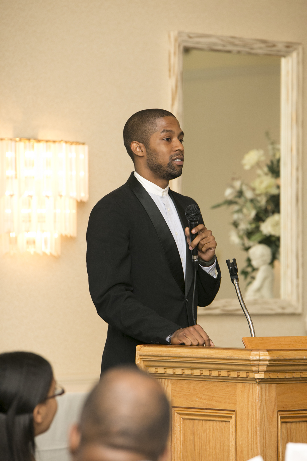 Travon Jackson speaking at Sponsor-A-Scholar's 2015 Graduation Celebration