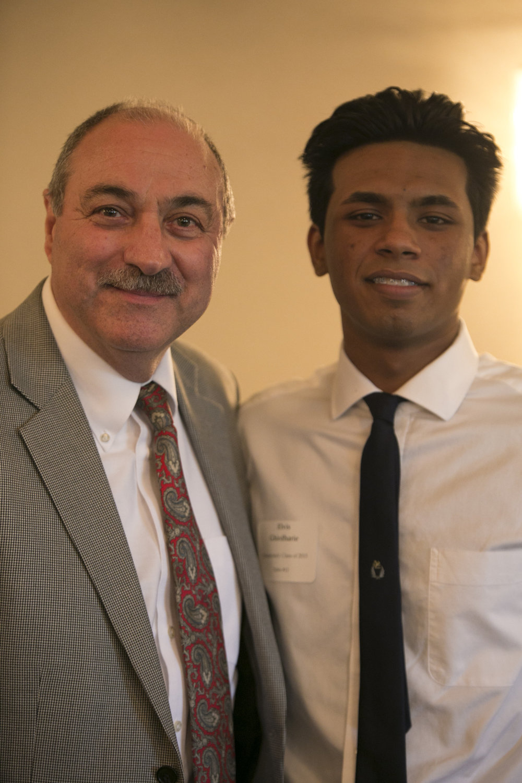 Former board member John DeBlasio with mentee Elvis Ghirdharie