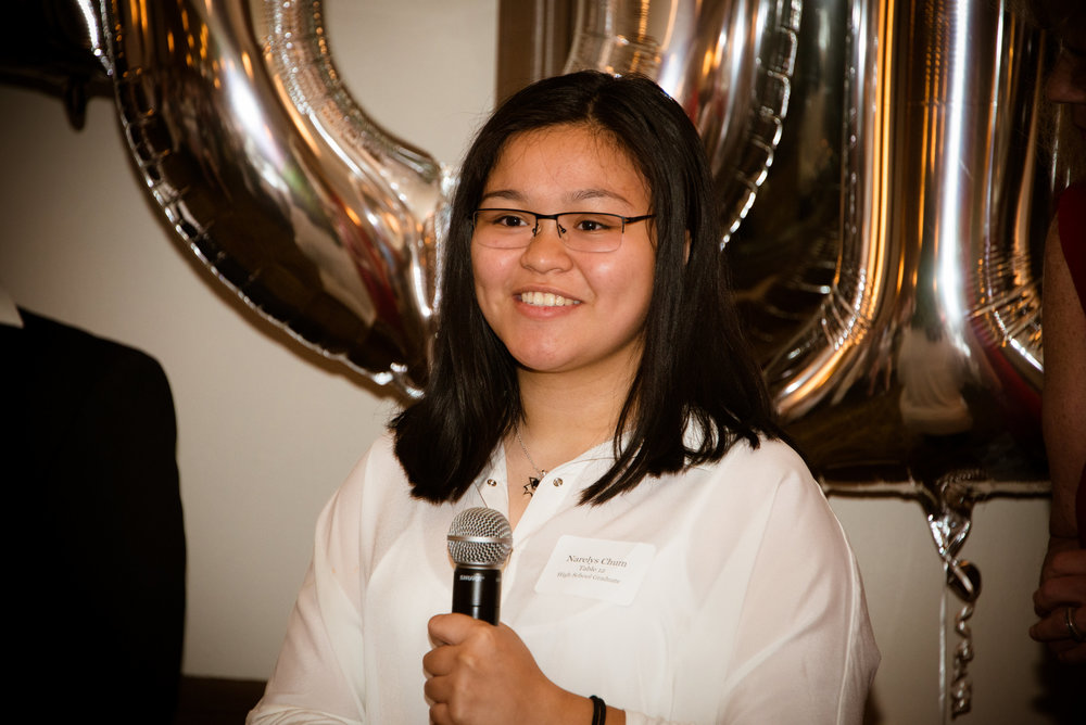 """I was looking forward to the Sponsor-A-Scholar celebration since I joined the organization as a high school freshman. The event was one of the best nights of my life so far. It was everything I dreamed of."" Narelys Chum, Troy High School class of 2016, SUNY New Paltz class of 2020."