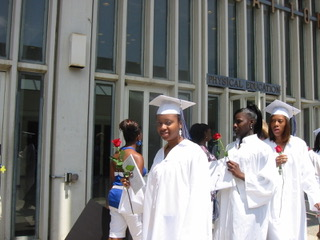 Amanda (left) at her college graduation