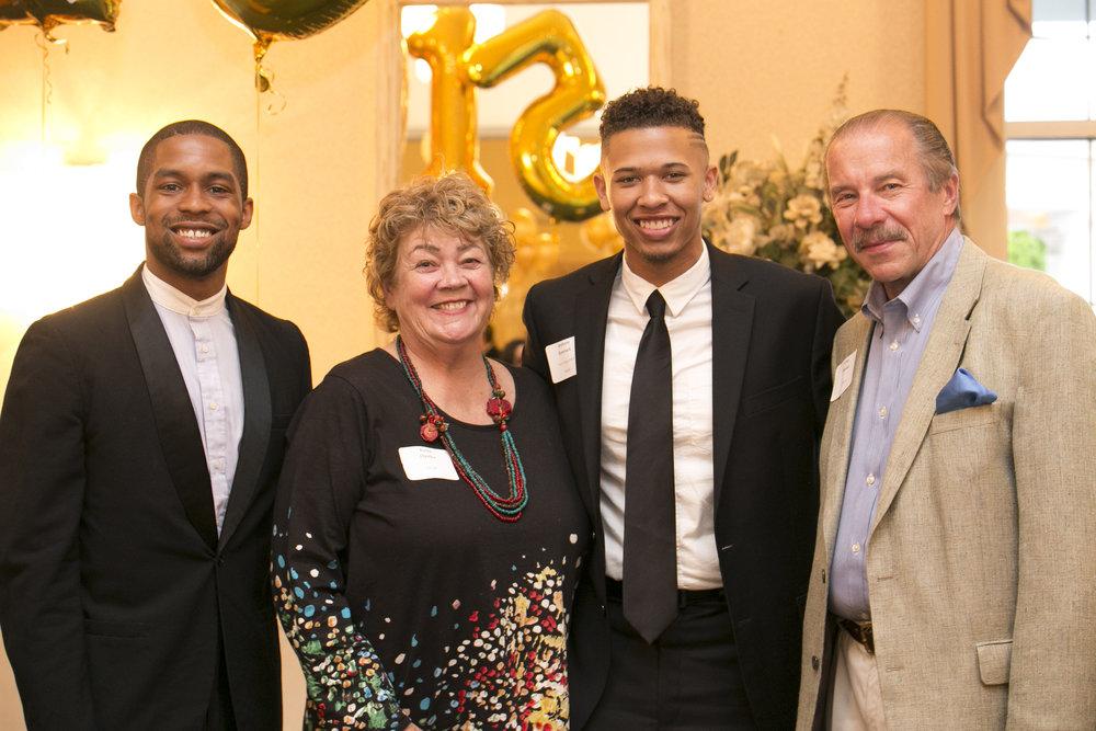 from left: Travon Jackson, Karen Opalka, Anthony Kownack and Chet Opalka
