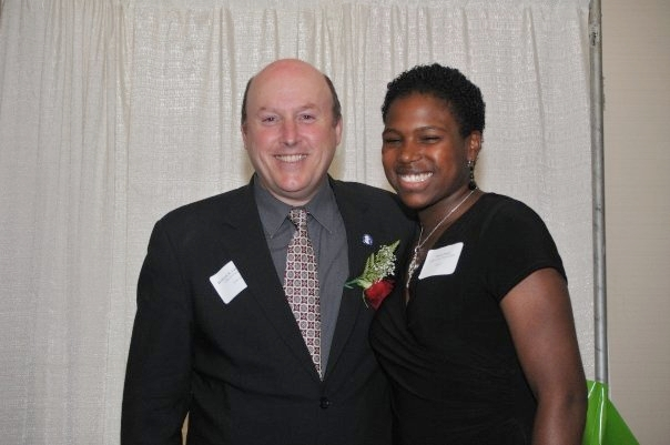 Sheila with former Sponsor-A-Scholar executive director, Bill Corbett