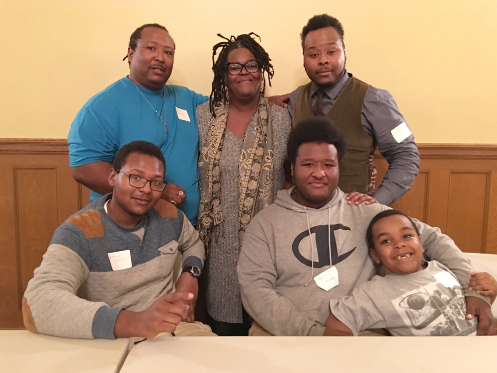 From Left: Elijah's parents Lowendell and Milisa Foulks, Elijah, Victorious, Job and Judah.