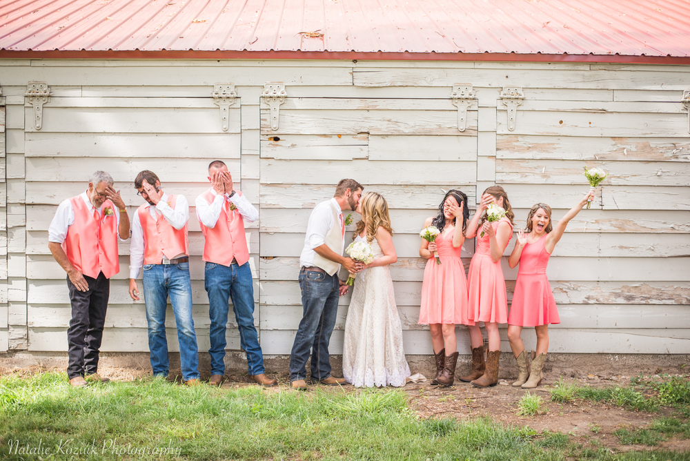 Natalie Koziuk Photography | Boise wedding photographer | bridal party | Star, ID | Bride Groom | nkoziukphotography.com