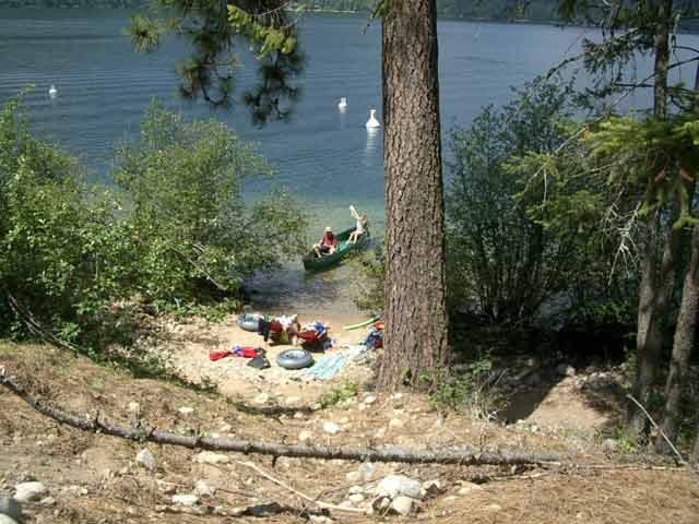 Texas Creek Provincial Campground on Christina Lake, BC
