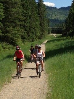 hiking and biking and riding the Trans Canada Trail