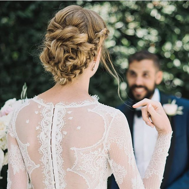 Emily's dress... Made me want more #lace in my life.  #hairofthebride · · · · #greenbride #nontoxicbeauty #beauty #bridal #bride #organichairstyling #organichairproducts #nontoxic #hairandmakeup #love #losangelesweddings #ocbridalhair #ocwedding #ochairstylist #ocbridalstylist #naturalbride #goddess #braidedupdo  #weddinghairstylist #weddings #nontoxichaircare #hairthatlasts #haircare #weddinginfluencer #nontoxicinfluencer #bridalhairexpert #hairinfluencer #hair