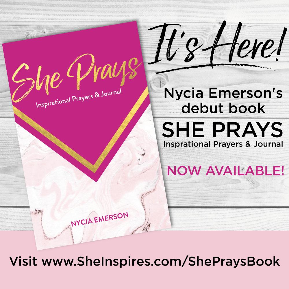 Go get yours now!! www.sheinspires.com/shepraysbook
