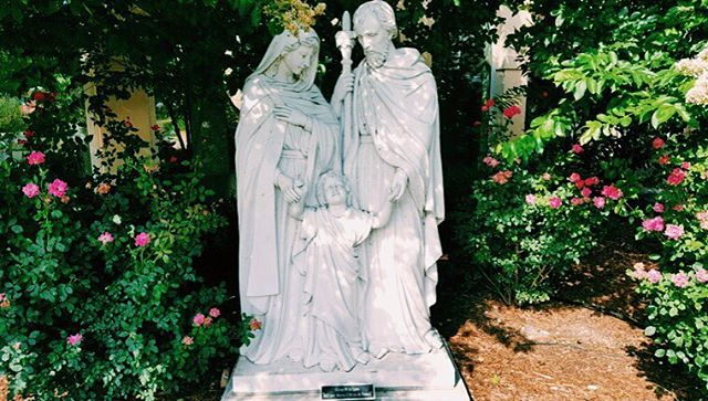 My favorite Holy Family statue EVER. St Mary's, Fredricksburg. #vscocam #ourcatholicstory