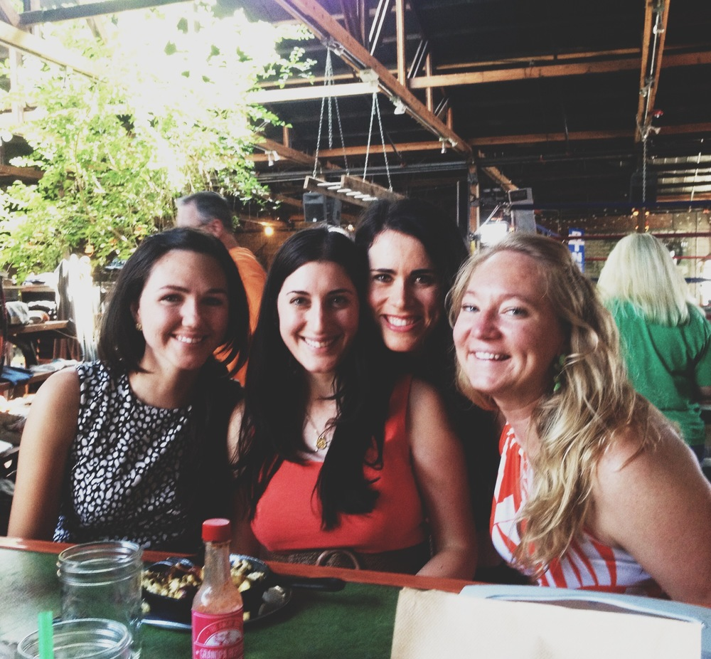 Brunch with my girlfriends during my first weekend in Phoenix. July 2014.