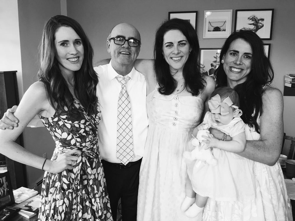 Easter 2016, with my Dad and sisters. I love this photo because I'm smiling my totally authentic smile.