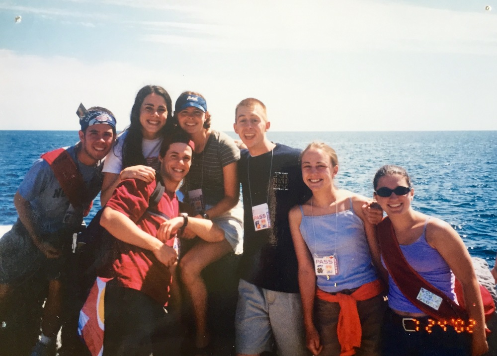 18-year-old me with some of my fellow pilgrims.