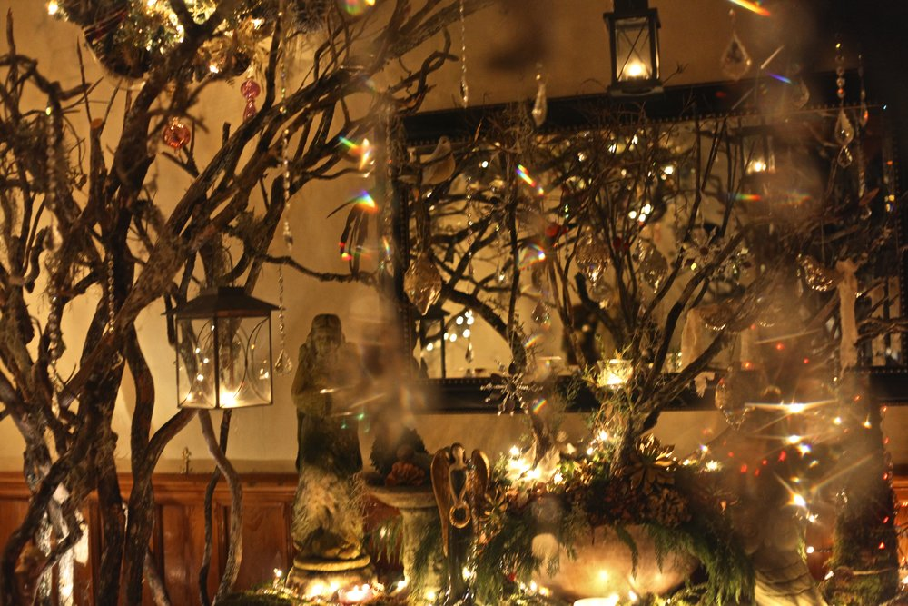 enchanted forest with crystal hangingjpg - Mansion Christmas Decorations