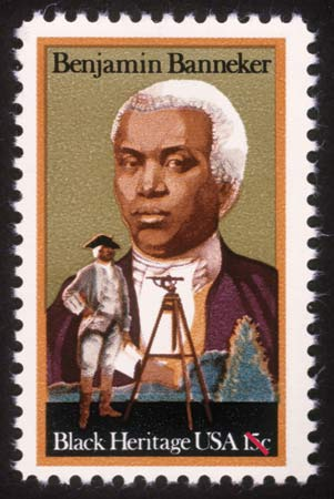 Postage stamp honoring Benjamin Banneker was issued in 1980.