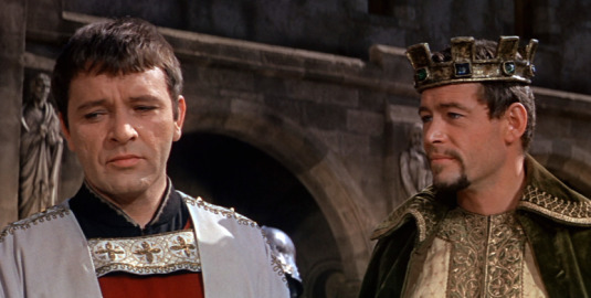 Actors Richard Burton, left, and Peter O'Toole portrayed, respectively, Thomas Becket and Henry II in the 1964 film  Becket.