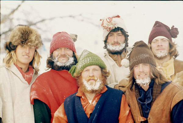 Voyageurs were of good cheer at Christmastime 1976, though this group showed evidence in their dress and the frost on their beards that the Polar Vortex of 1976-77 was with them to stay.