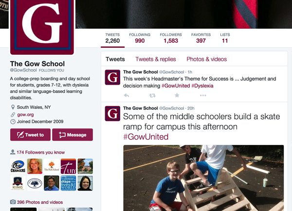 Gow's twitter feed rallies the community with #gowunited