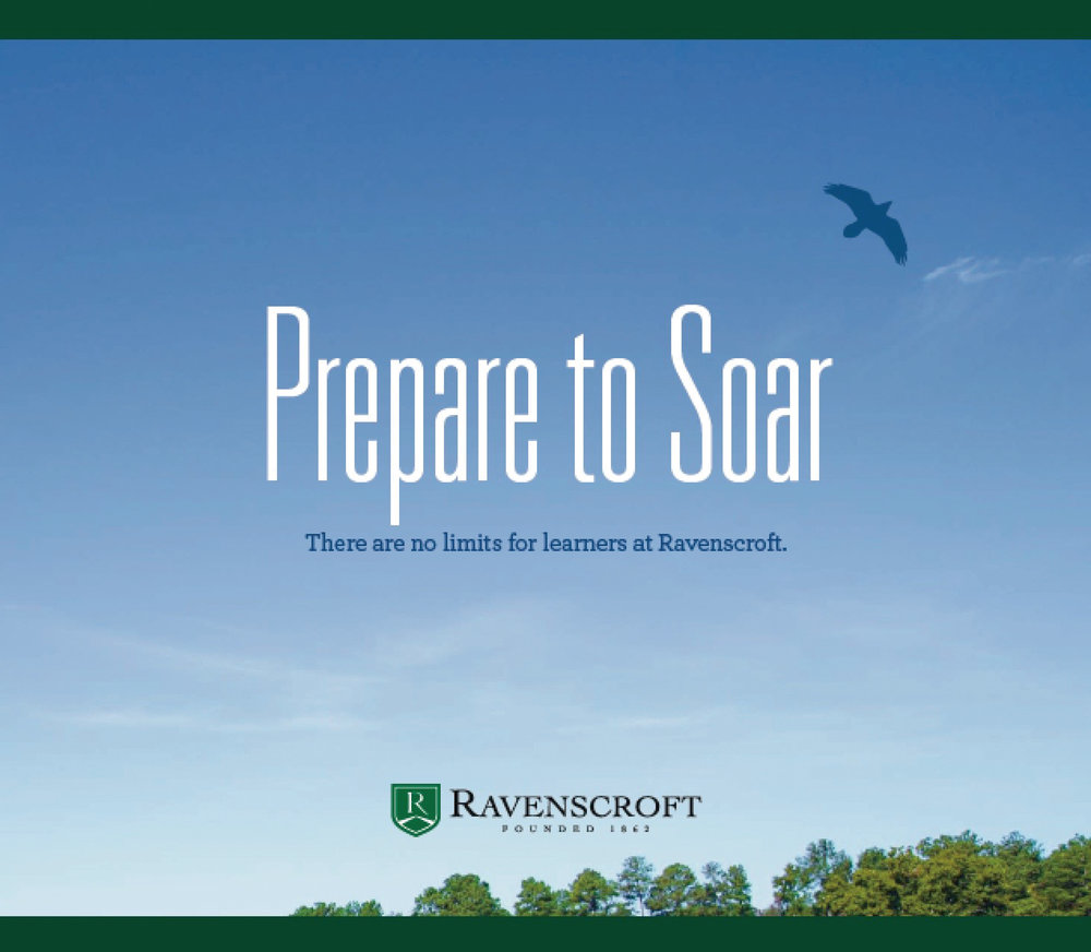 PREPARE TO SOAR, the Ravenscroft viewbook. Click for PDF.