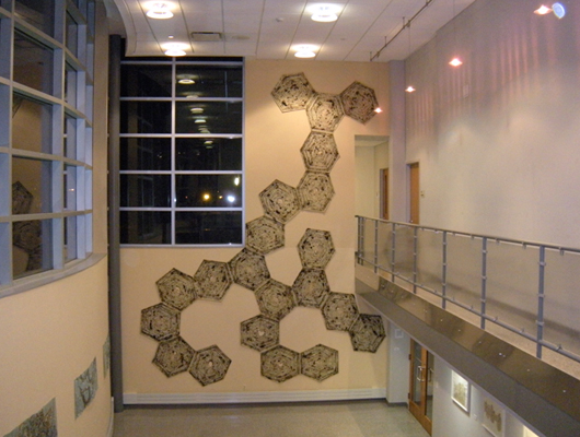 Tubule  22 ft X 17 ft, 2009, Mig Welder on Waxed Masa Paper, Middlesex County College