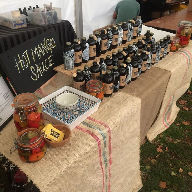 Up and at em. @barnesfoodfair all day!  #sourjerk #food #fair #weekend #hotsauce #grind #london #barnes #uk #artisan #artists #work