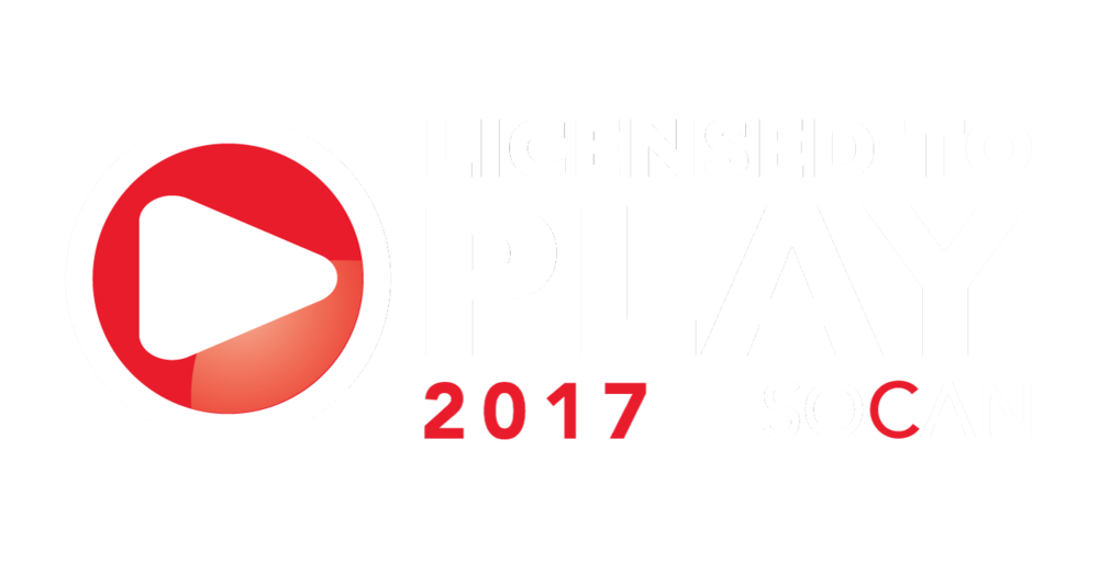 Jordan River Radio is licensed to play through SOCAN, the organization representing the Copyright Board of Canada.