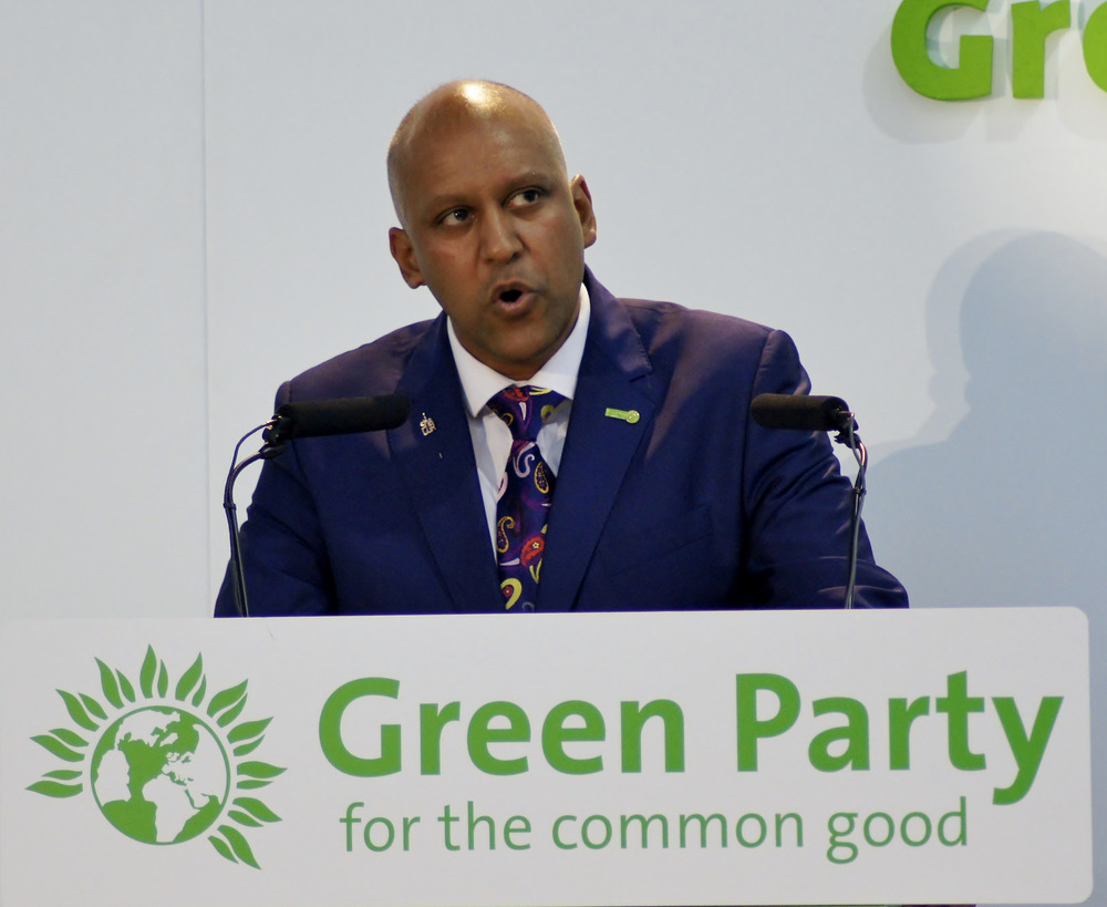 Deputy Leader Shahrar Ali addresses Green Party, 6 Sept. Photo: Vicky Duckworth