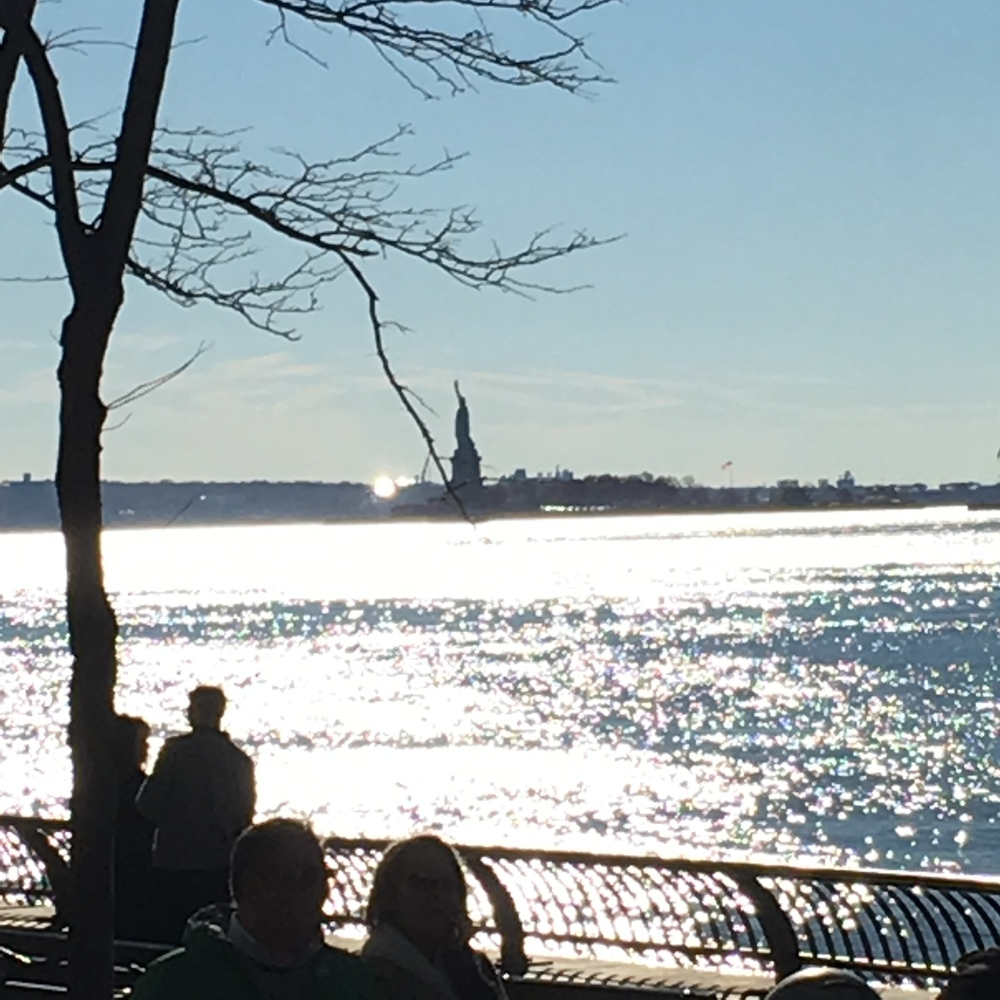 Do you see Lady Liberty shining in the distance?