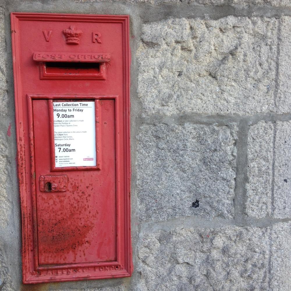 Victorian era wall post box
