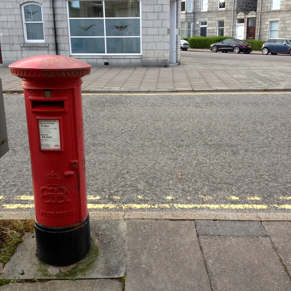 Distinctive 1936 design of Edward VIII pillar box