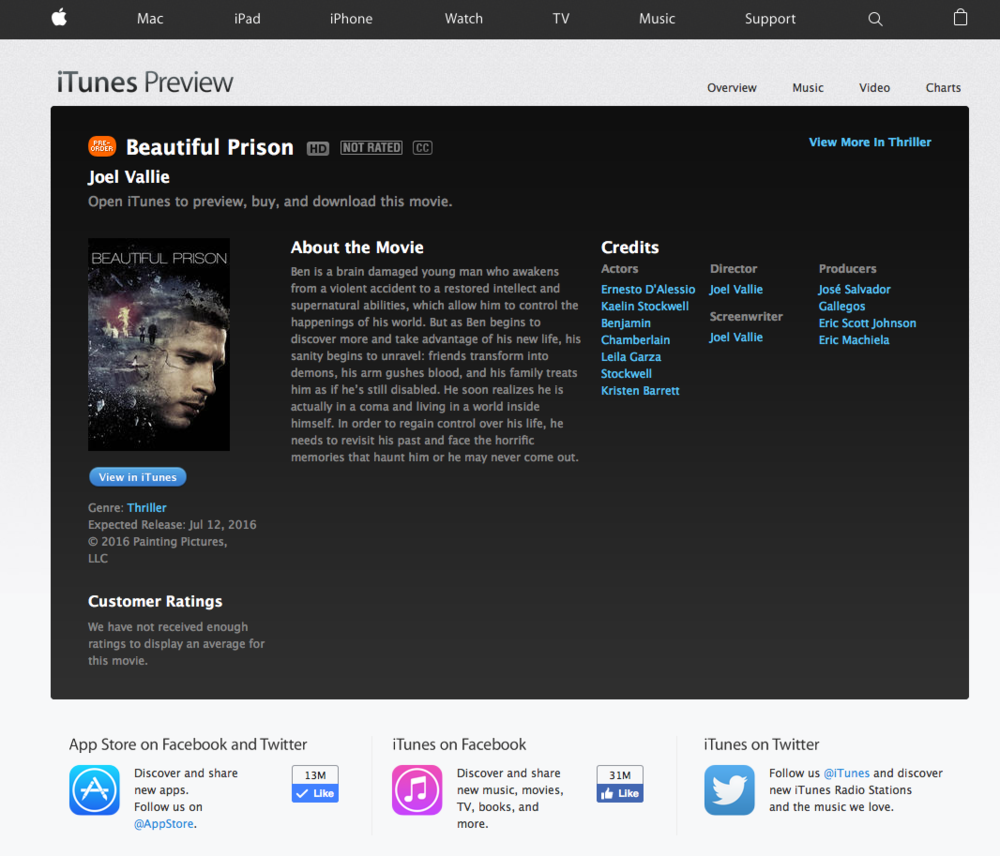 beautiful prison on itunes
