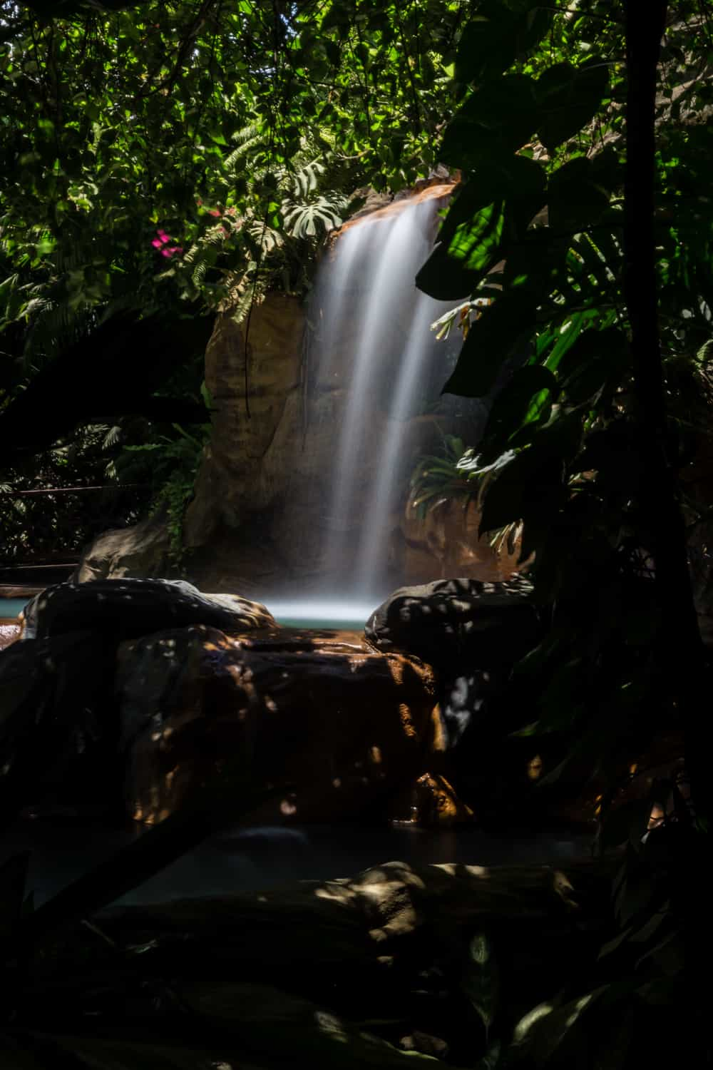 El Ranchito wedding & reception site has thermal pools with waterfalls.