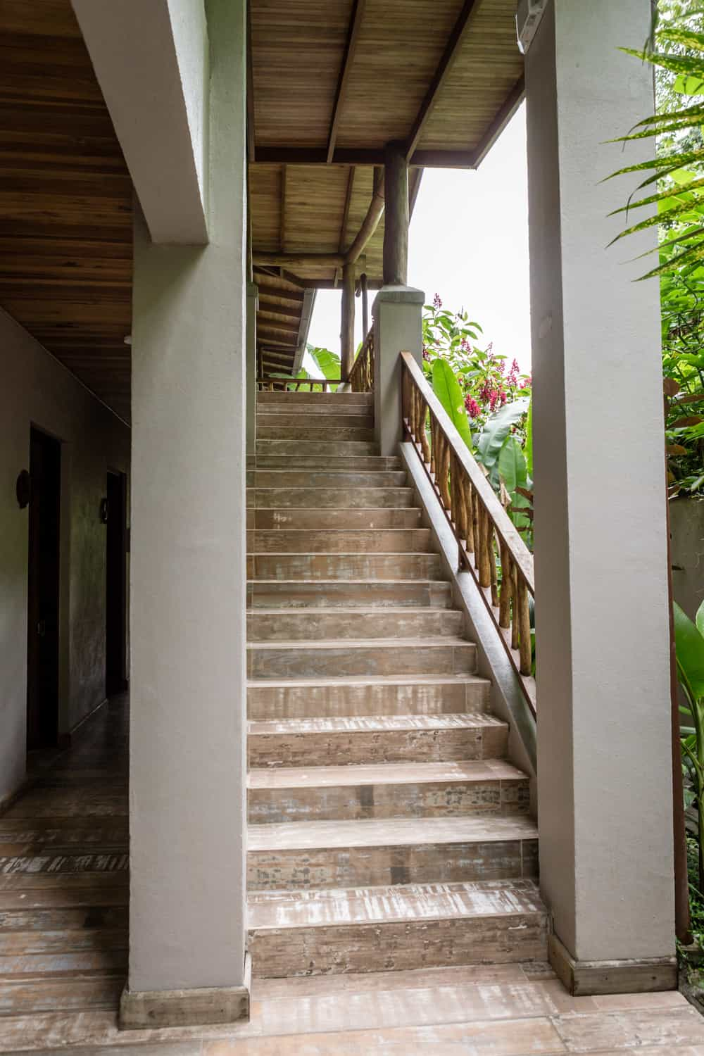 Stairway leading to Lost Iguana Honeymoon Suite.